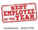 best employee of the year... | Shutterstock .eps vector #356275796