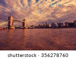 london river thames at sunset....