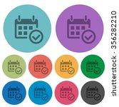 color calendar check flat icon...