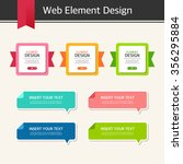 vector element design set | Shutterstock .eps vector #356295884
