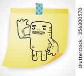 monster doodle | Shutterstock .eps vector #356300570