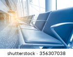 row of leather chairs in... | Shutterstock . vector #356307038