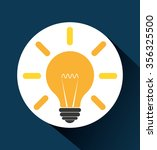 bulb or big idea graphic design ... | Shutterstock .eps vector #356325500