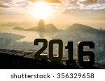 golden 2016 sign standing at...   Shutterstock . vector #356329658