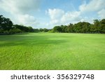 green grass field of public park | Shutterstock . vector #356329748