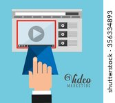 video marketing design  vector... | Shutterstock .eps vector #356334893