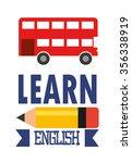 learn english design  vector... | Shutterstock .eps vector #356338919
