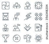 business icon set suitable for... | Shutterstock .eps vector #356348204