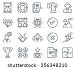 business icon set suitable for... | Shutterstock .eps vector #356348210