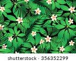 tropical frangipani flowers on... | Shutterstock .eps vector #356352299