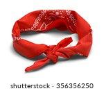 red handkerchief headband...   Shutterstock . vector #356356250