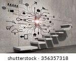 business strategy plan over... | Shutterstock . vector #356357318