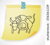 taurus constellation doodle | Shutterstock .eps vector #356361239
