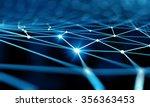 blue virtual technology... | Shutterstock . vector #356363453