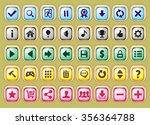 game interface buttons set  app ... | Shutterstock .eps vector #356364788