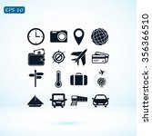 travel icons set | Shutterstock .eps vector #356366510