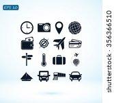 travel icons set | Shutterstock .eps vector #356366510