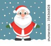 santa claus cartoon flat design ... | Shutterstock .eps vector #356366828