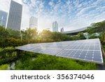 solar panels in the park of... | Shutterstock . vector #356374046