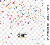 colorful confetti isolated on... | Shutterstock .eps vector #356377046