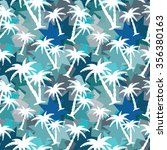 seamless pattern with coconut... | Shutterstock .eps vector #356380163