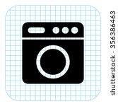 washer   black  vector icon | Shutterstock .eps vector #356386463
