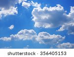 clouds with blue sky  | Shutterstock . vector #356405153