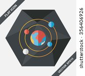 space planet flat icon with... | Shutterstock .eps vector #356406926