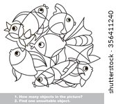 fish mishmash set in vector... | Shutterstock .eps vector #356411240