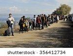 lesvos  greece   october 12 ...   Shutterstock . vector #356412734