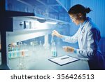 young clinician working with... | Shutterstock . vector #356426513