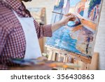 hand of artist painting italian ... | Shutterstock . vector #356430863