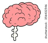 freehand drawn cartoon brain | Shutterstock .eps vector #356432546