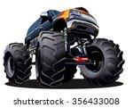 cartoon monster truck.... | Shutterstock .eps vector #356433008