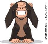 funny little monkey | Shutterstock .eps vector #356437244