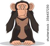 funny little monkey | Shutterstock .eps vector #356437250