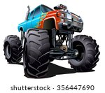 cartoon monster truck.... | Shutterstock .eps vector #356447690