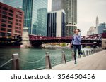 running in the city.motion blur | Shutterstock . vector #356450456