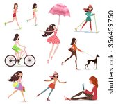 lifestyle of fashion young... | Shutterstock .eps vector #356459750