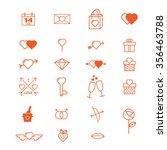 valentines day icon set | Shutterstock .eps vector #356463788