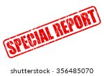 special report red stamp text...   Shutterstock .eps vector #356485070