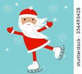 cartoon santa ice skates winter ...   Shutterstock .eps vector #356493428