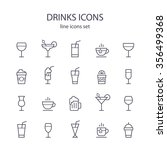 drinks icons. | Shutterstock .eps vector #356499368