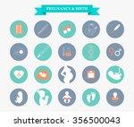 pregnancy and newborn baby... | Shutterstock .eps vector #356500043
