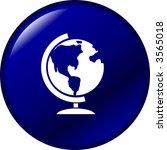 earth globe button | Shutterstock .eps vector #3565018