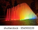 Beautiful Colorful Fountain At...