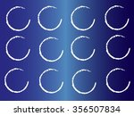 grunge circles black and white .... | Shutterstock .eps vector #356507834