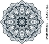 mandala coloring illustration.... | Shutterstock .eps vector #356510468
