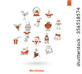 christmas and winter icons... | Shutterstock . vector #356518574