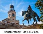 puerta del sol in madrid in... | Shutterstock . vector #356519126